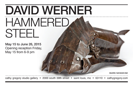 david werner: hammered steel  May 15 to June 26, 2015.  See more of David's work > Find out more about David >