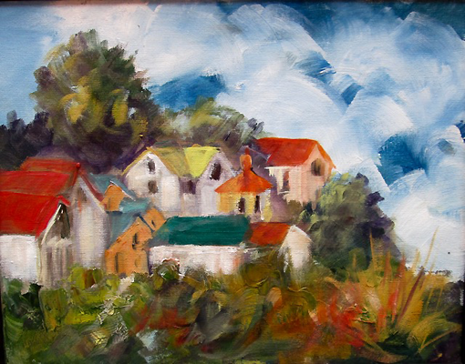 Gwendolyn Moore, Bluff View, oil on canvas at Cathy Gregory